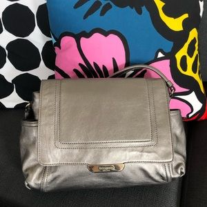 Kate Spade Metalic Silver Shoulder Bag